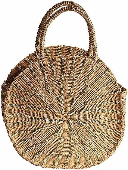 DONNE ESTATE PAGLIA Weave spiaggia borsa borsa a tracolla