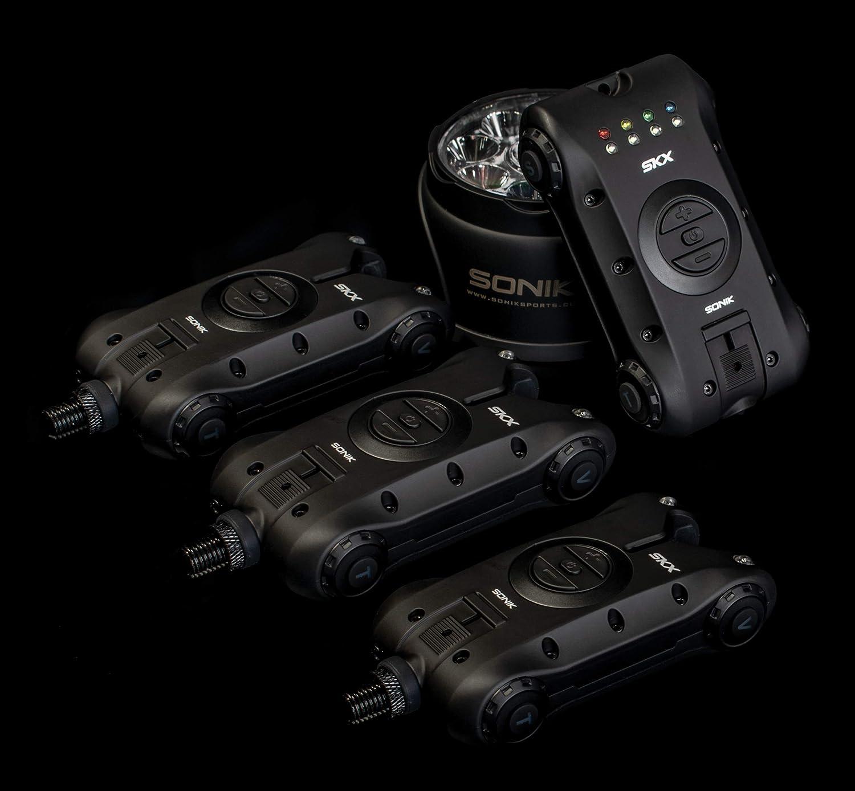 Free Delivery Free Bivvy Light Sonik SKS 3+1 Alarm /& Receiver Set