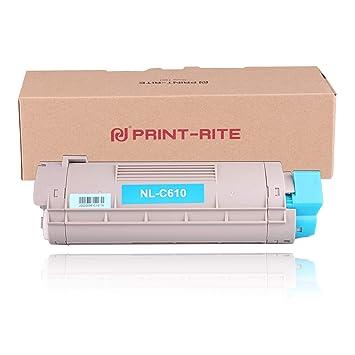 Print-Rite Compatible Oki c610 44315307 Cian Cartucho de ...