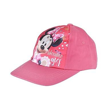 07cef5d3ffd Disney Minnie Mouse Girls 5 Panel Baseball Cap Kids Pink Hat Strap  Fastening  Amazon.co.uk  Clothing