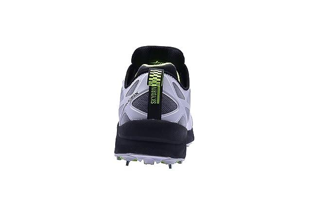 Jazba - Zapatillas de críquet de Material Sintético para hombre multicolor negro y verde, color multicolor, talla 43 EU