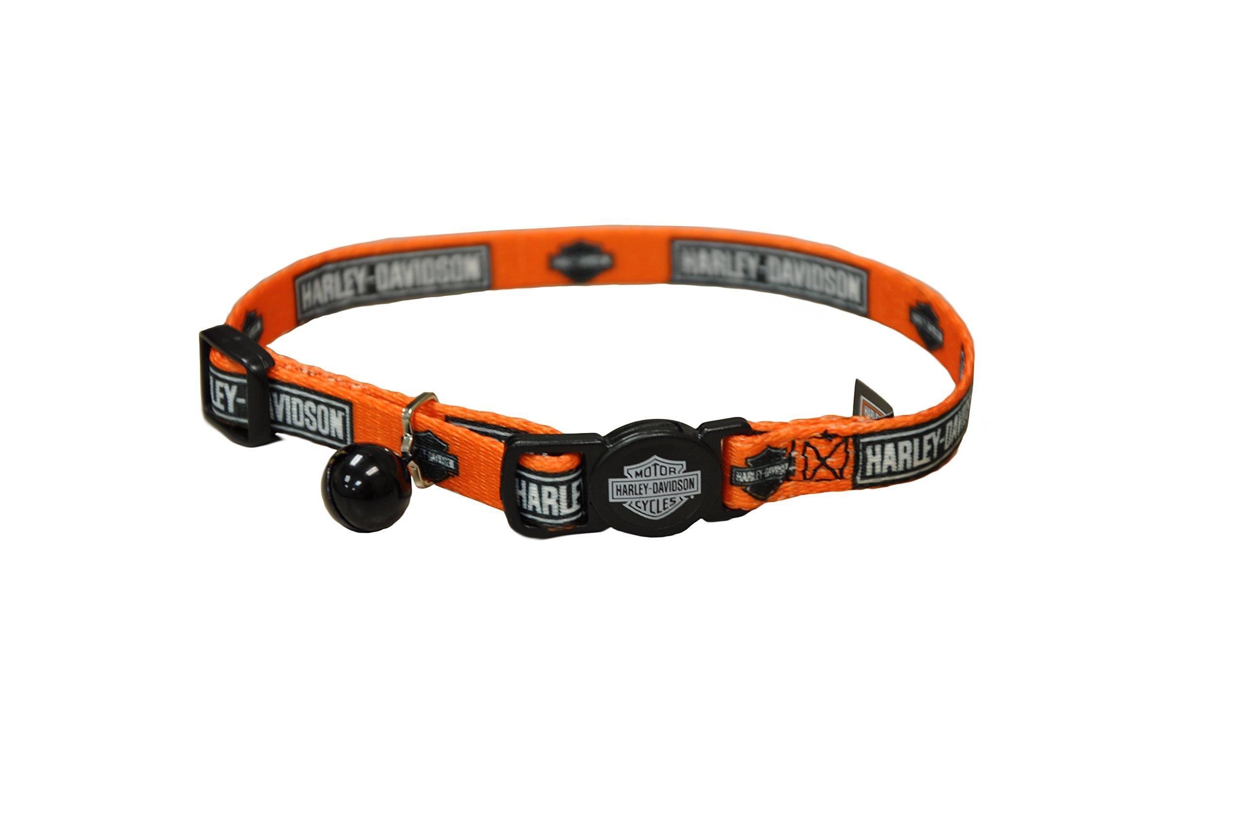 Harley Davidson Adjustable Safe Cat Collar 3/8