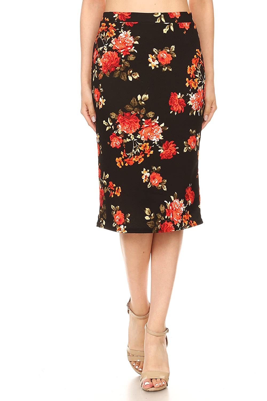 Blackorange Misha Fashion Women's Knee Length Pencil Skirt Office Wear  Made in USA