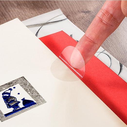 100 Stück Klebepunkte transparent 30mm Klebe Siegel Verschluss Etiketten