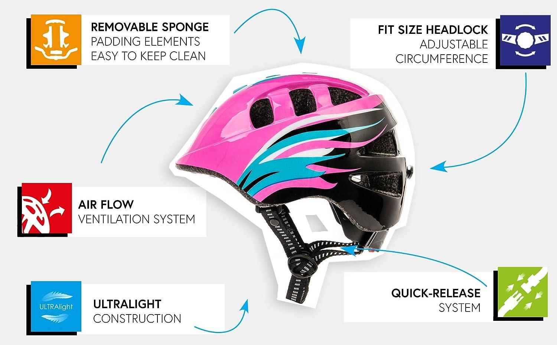 meteor Cycle Helmet For Kids Child Helmet MTB Bike Bicycle Skateboard Scooter Hoverboard Helmet For Riding Safety Lightweight Adjustable Breathable Helmet MA-2