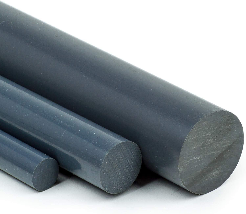 50cm PVC-U Kunststoffstab auf Zuschnitt L: 500mm PVC Rundstab grau /Ø 45mm
