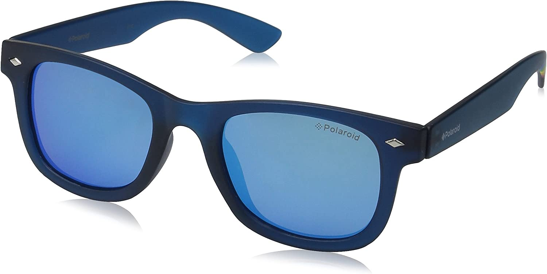 Polaroid PLD 8009/N JY UJO Gafas de sol, Azul (Bluette Transparent/Grey Blue Mirror Polarized), 45 Unisex Niños