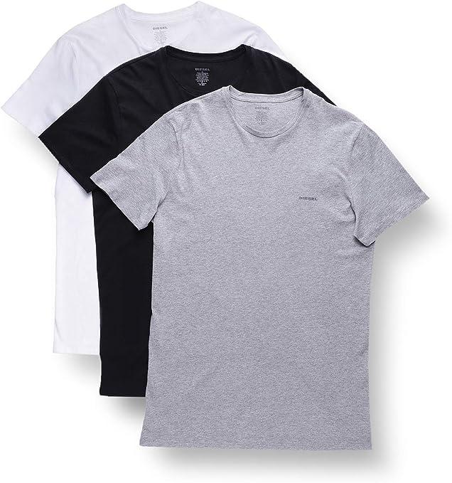 TALLA S. Diesel - Camiseta para Hombre (pack de 3)