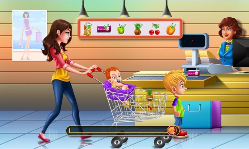 Supermercado juego - caja registradora - ir de compras