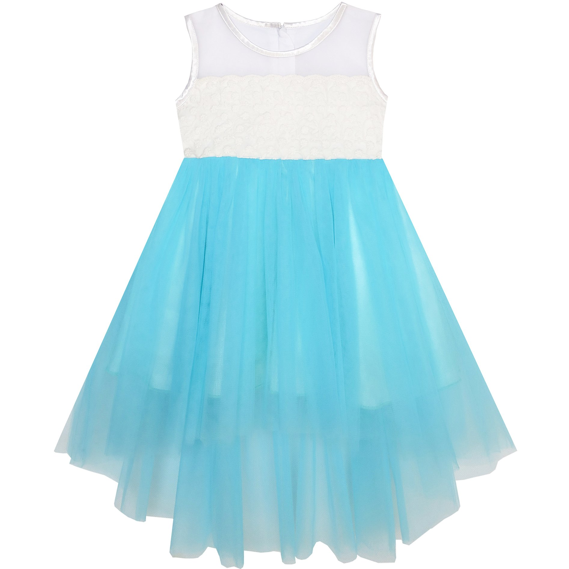 KH83 Baby Girls Dress Sparkling Lace Sequin Pageant Wedding Birthday Size 18-24 M