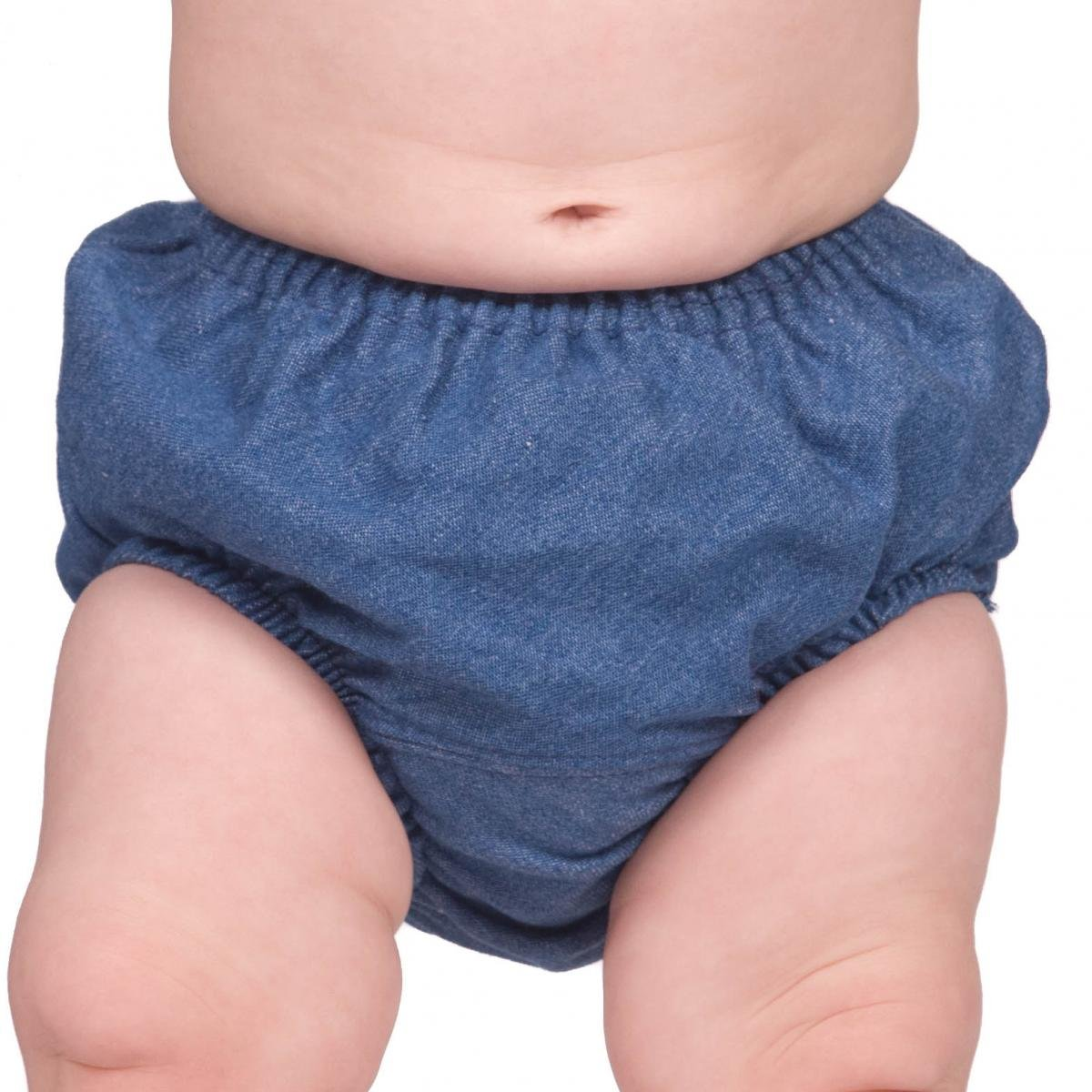 IC Collections Baby Toddler Denim Infant Diaper Cover Bloomers 000094bl