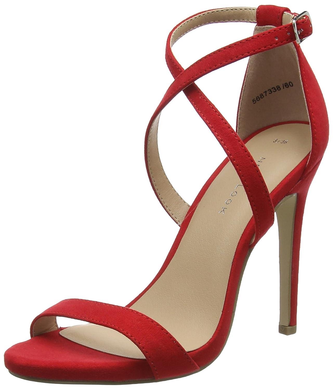 New Look Sarina, Zapatos con Tacon y Correa de Tobillo para Mujer