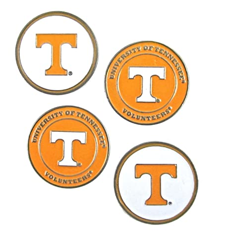 af4020f5a7e Image Unavailable. Image not available for. Color  Tennessee Volunteers  NCAA Double Sided UT Golf Ball Markers ...