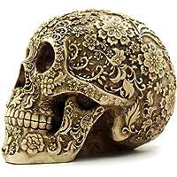 OULII Cráneo Humano Modelo Calavera Resina Decoración