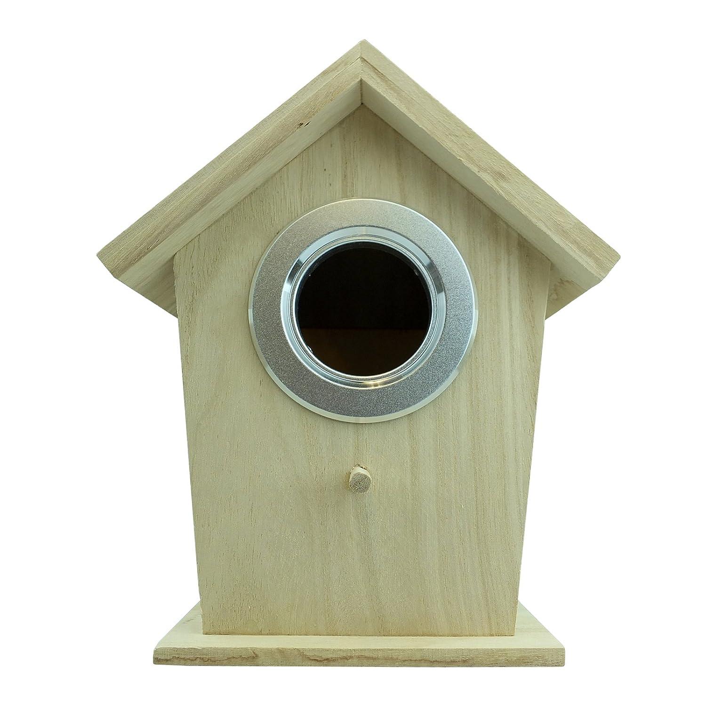 Bid Buy Direct Maison d'oiseaux en bois naturel | attractif durable en bois dur–solide et résistant | Cadeau idéal et décoration à suspendre Bird gigognes station. résistant aux intempéries et insectes repose-poignets Bid Buy Direct®