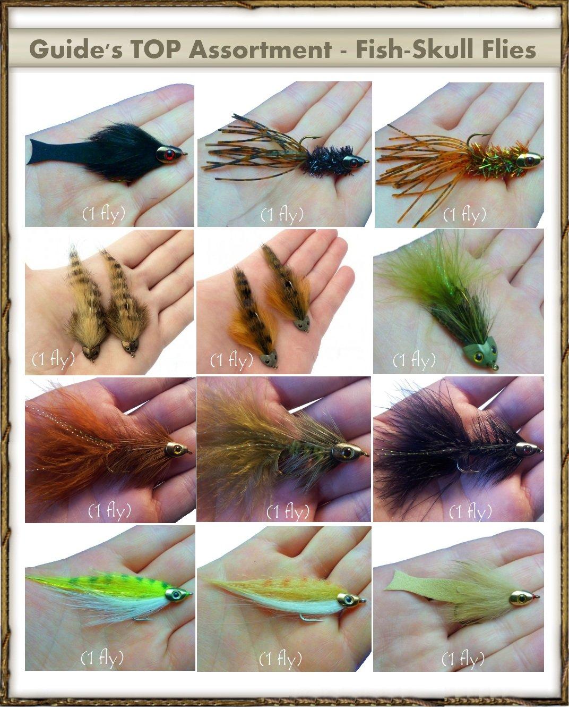 Next Generation Streamer Flies - Fish-Skull Assortment (12 Flies) by FlyDeal Fishing Flies