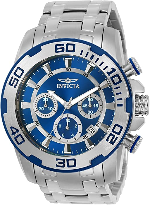 Invicta Men Pro Diver Quartz Watch with StainlessSteel Strap Silver 26 Model 22319