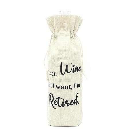 Amazon.com: Bolsas de vino de regalo de jubilación, regalos ...