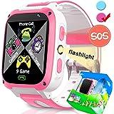 Smartwatch for Kids-TURNMEON Juego Infantil Reloj Inteligente para niñas Niños Niños Regalos de cumpleaños de Navidad con Llamadas SOS Juguetes electrónicos de Aprendizaje (Azul y Blanco)