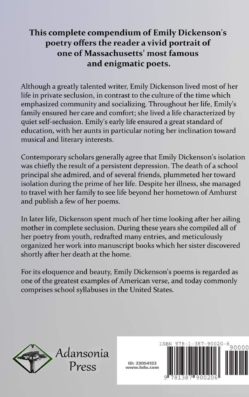 The Complete Poems Of Emily Dickinson Hardcover Amazones