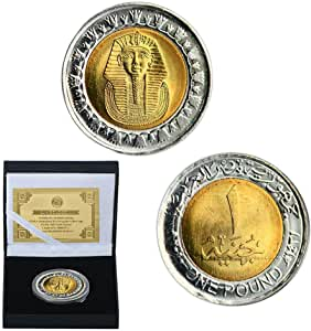 1989,2020,Piastras Oro,Monedas,Egipto,Tutankamón,Faraón,Pirámide ...