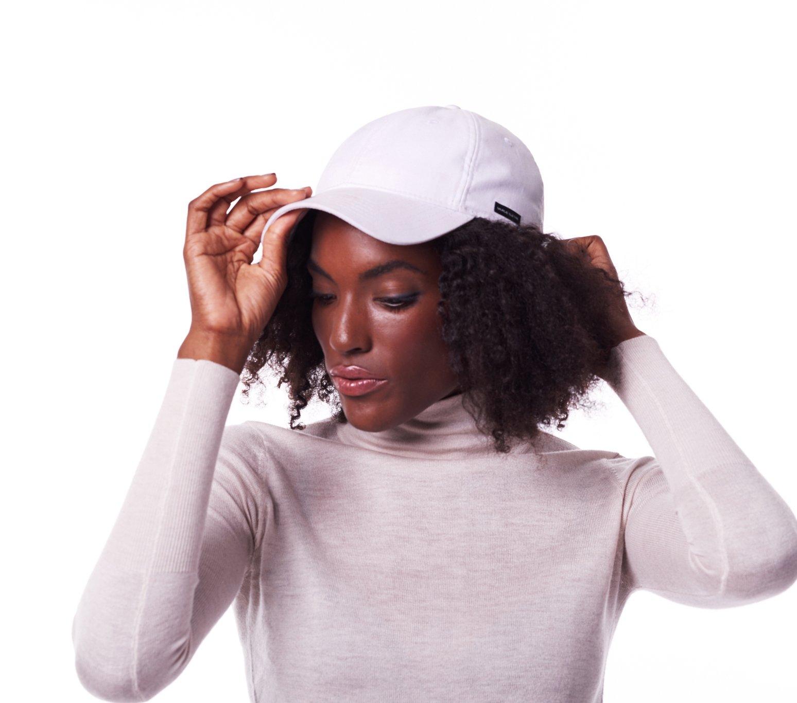 Grace Eleyae Women's Baseball Cap - Slap - Satin Lined Dad Hat, White