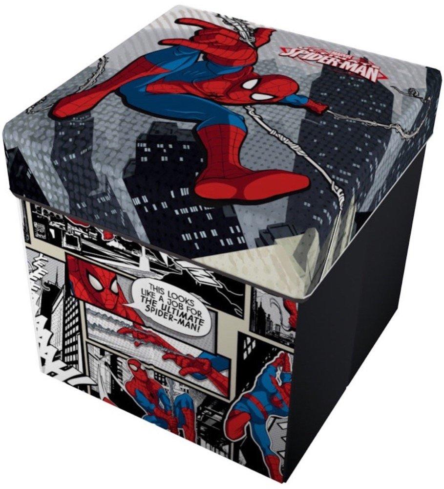 Star Licensing Marvel Spiderman Puf contenedor con cojín ...