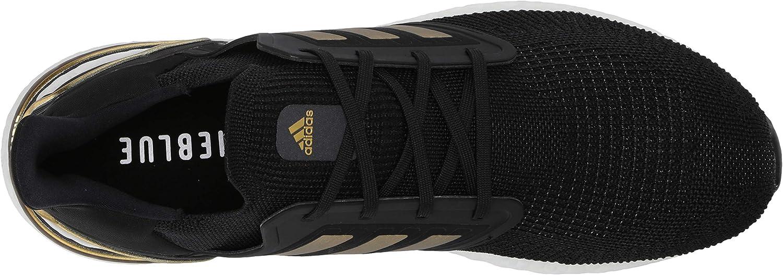adidas Ultraboost 20, Chaussure de Course Homme Noir Or Métallique Rouge Solaire