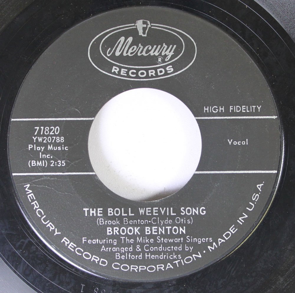 Brook Benton Amazon Music Wiring Library Poulan Po17542lt Diagram 45 Rpm The Boll Weevil Song Your Eyes