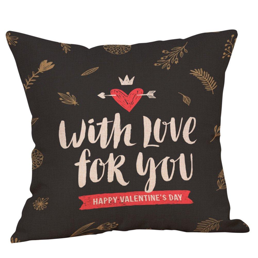NPRADLA Happy Valentine Cojin FundasSofá de Lino Funda de ...