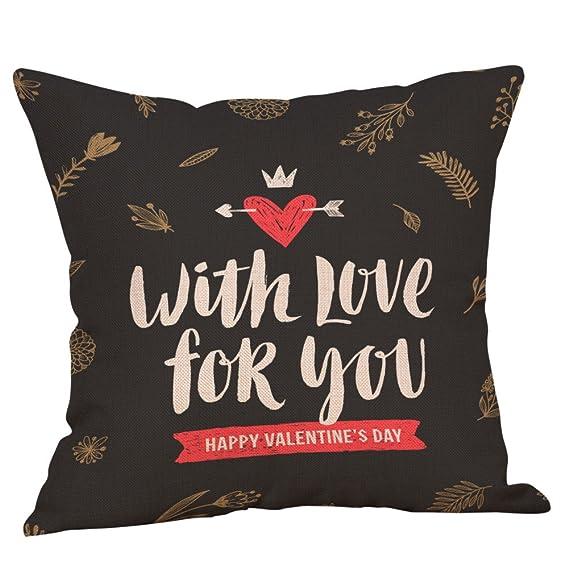 Amazon.com: Throw Pillow Cover, DaySeventh Happy Valentine ...