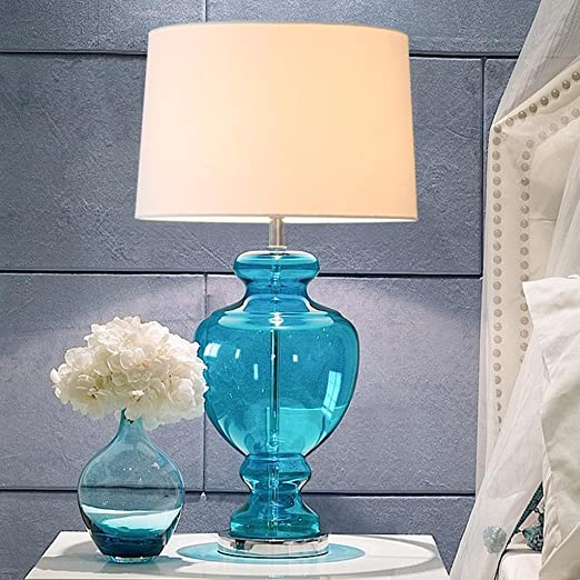 DZW lámpara de cristal azul creativa de estilo Mediterráneo ...