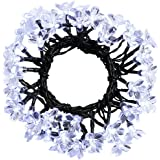 easyDecor Solar String Lights 50 LED 23ft 8 Modes Blossom Flower Garden Christmas lights for Outdoor Indoor Party Wedding Patio Holiday Decorations (Multi Color) (Cool White)