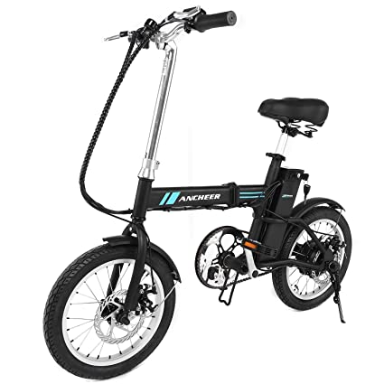 ANCHEER Folding Electric Bike, 16 Inch Collapsible Electric Commute Bike Ebike With 36V 6Ah Lithium