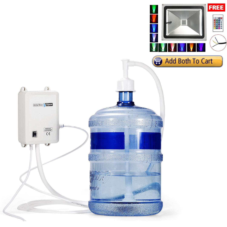 TDRFORCE Bottled Water Dispensing Pump System with Single Inlet 120v AC US Plug,Best for 5 Gallon Bottle