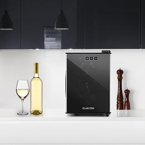 Klarstein - Ceres, Nevera vinos o Bebidas, Vinoteca, 16 L, 6 ...