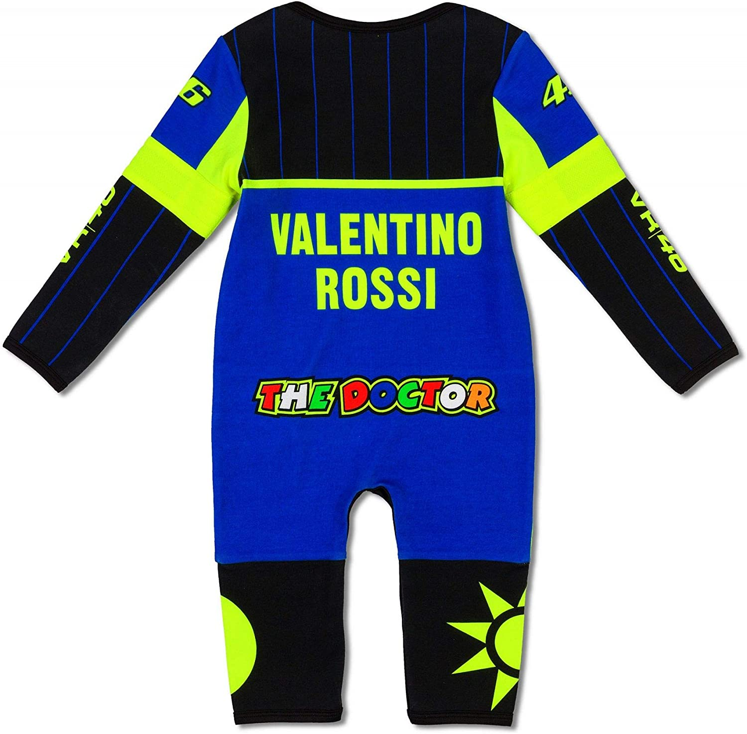 Blue Black VR46 Valentino Rossi Yamaha Racing Babies Overall 12 Months