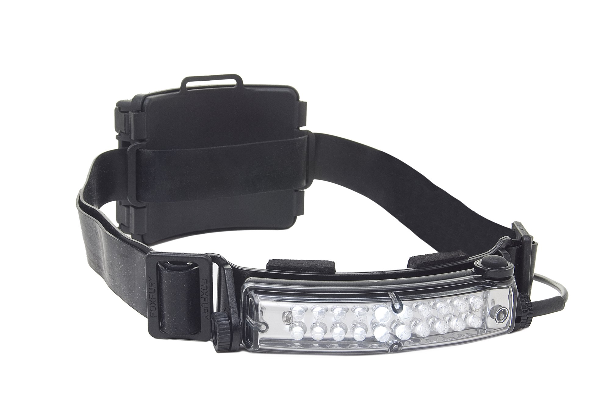 FoxFury 420-009S Command 20 Tasker S LED Helmet Light with Silicone and Elastic Strap, 72 Lumens