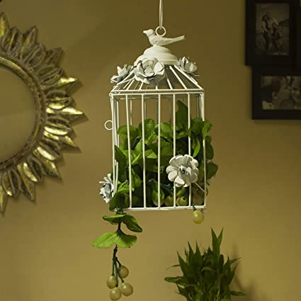Home Sake Decorative Hanging Bird Cage, Balcony/Patio Planter cage/Hanging  Candle Holder - Amazon.com: Home Sake Decorative Hanging Bird Cage, Balcony/Patio