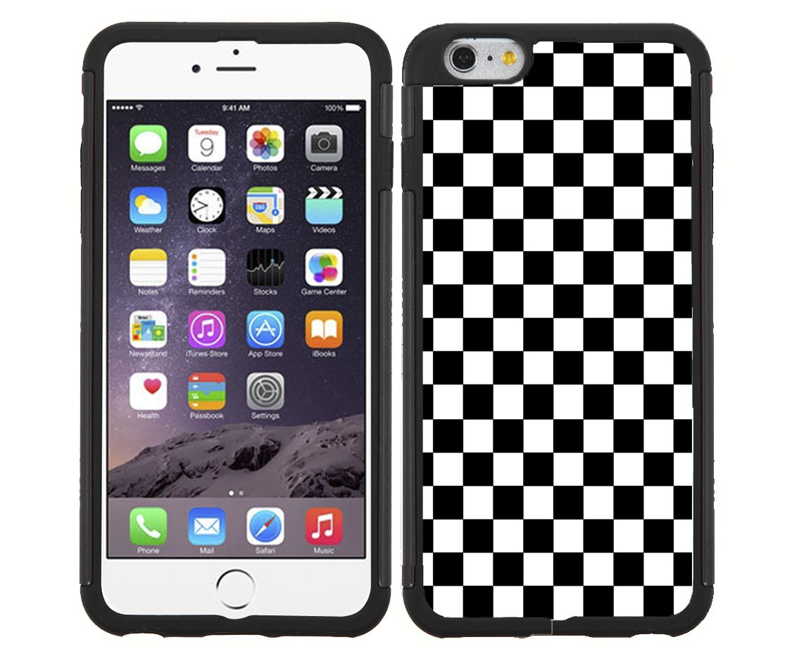 finest selection e49fd 9d438 Black and White Checkerboard Rubber Snap on Phone Case iPhone 6 ...