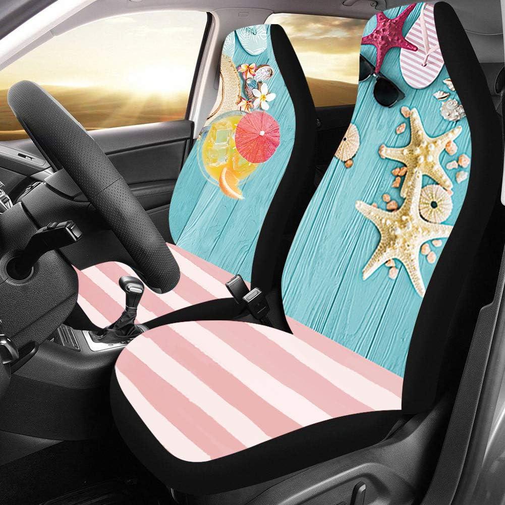 Van 2 Packs SUV Sedan Cozeyat Cartoon Sloth Print Car Seat Covers Automobile Seat Protector Universal Fit for Most Cars