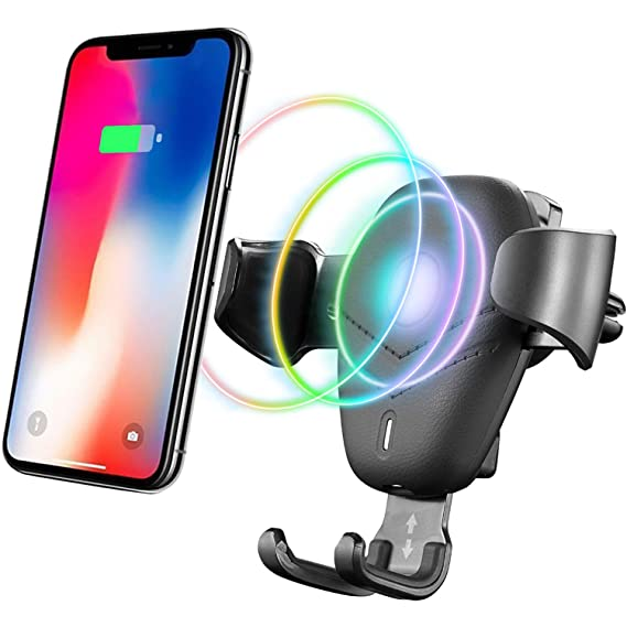 Wireless Car Charger,Qi Wireless Car Charger Mount Gravity Air Vent Phone  Holder,10W Fast Charge for Samsung Galaxy S9 S9Plus S8 S8Plus Note 8,7 5W