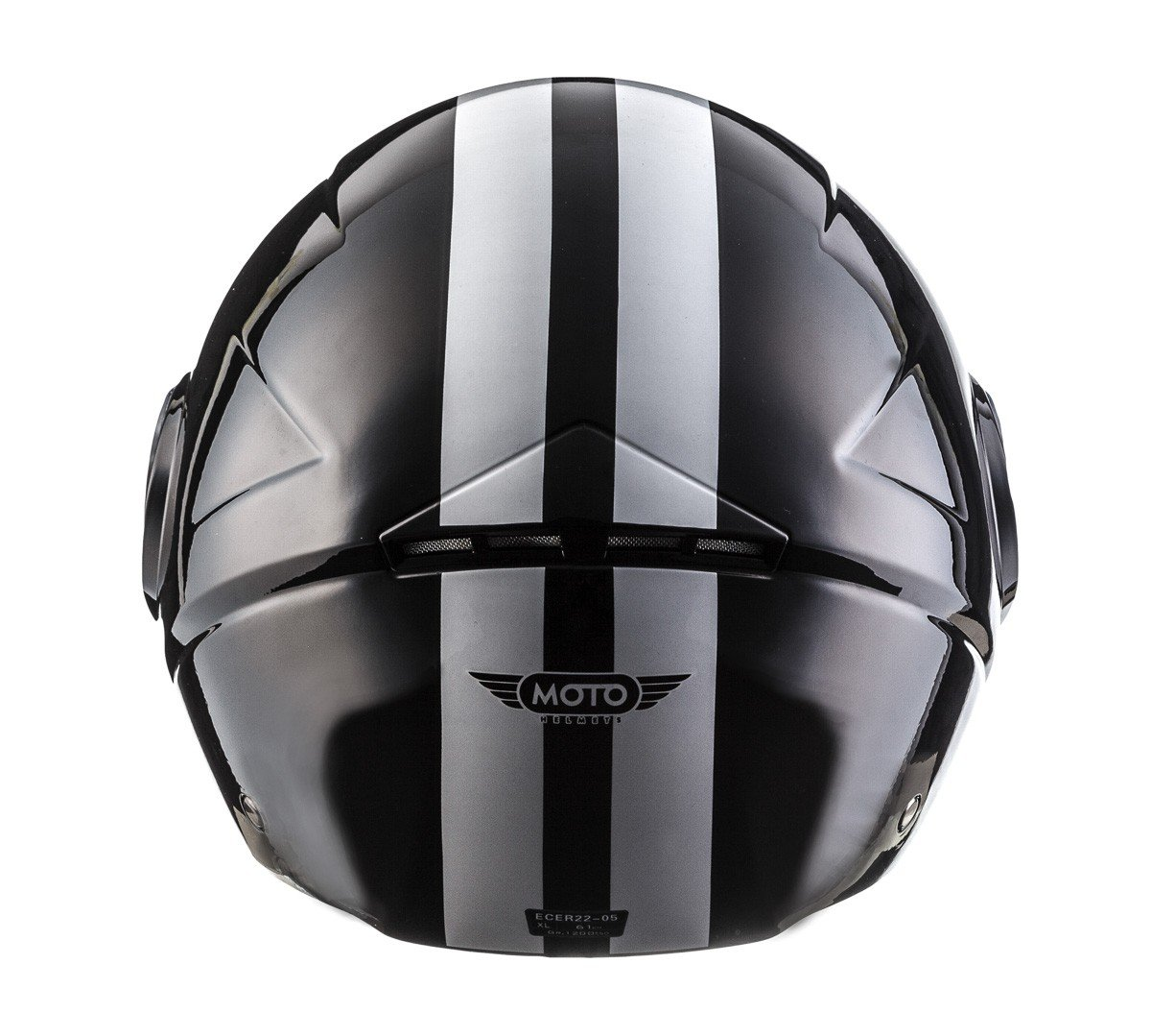 MOTO U52 Matt Black /· Casco Demi-Jet Retro Urbano Cruiser Scooter Vintage Urban Mofa Bobber Biker Moto motocicleta Piloto Helmet Vespa Chopper /· ECE certificado /· visera incluido /· incluyendo bolsa de casco /· Negro /&middo