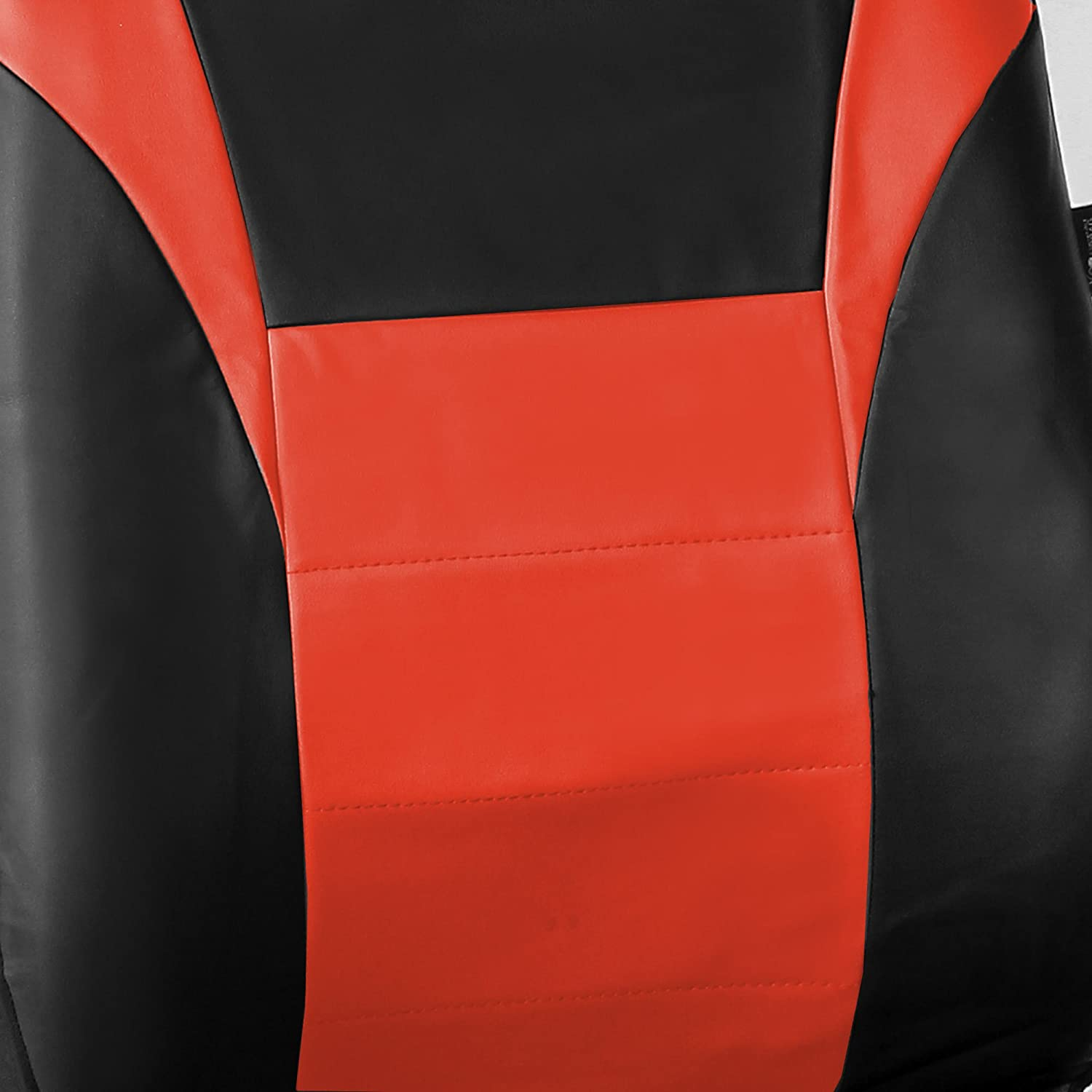 FH Group FH-FB060114 Universal Fit Trendy Elegance Full Set Car Seat Covers Truck SUV or Van Airbag Compatible and Split Bench,Beige//Black Color- Fit Most Car