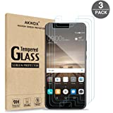 (3-Pack) Tempered Glass Screen Protector for Huawei P10, Akwox Ultra thin [0.3mm 2.5D High Definition 9H] Premium Clear Screen Protective Film For Huawei P10