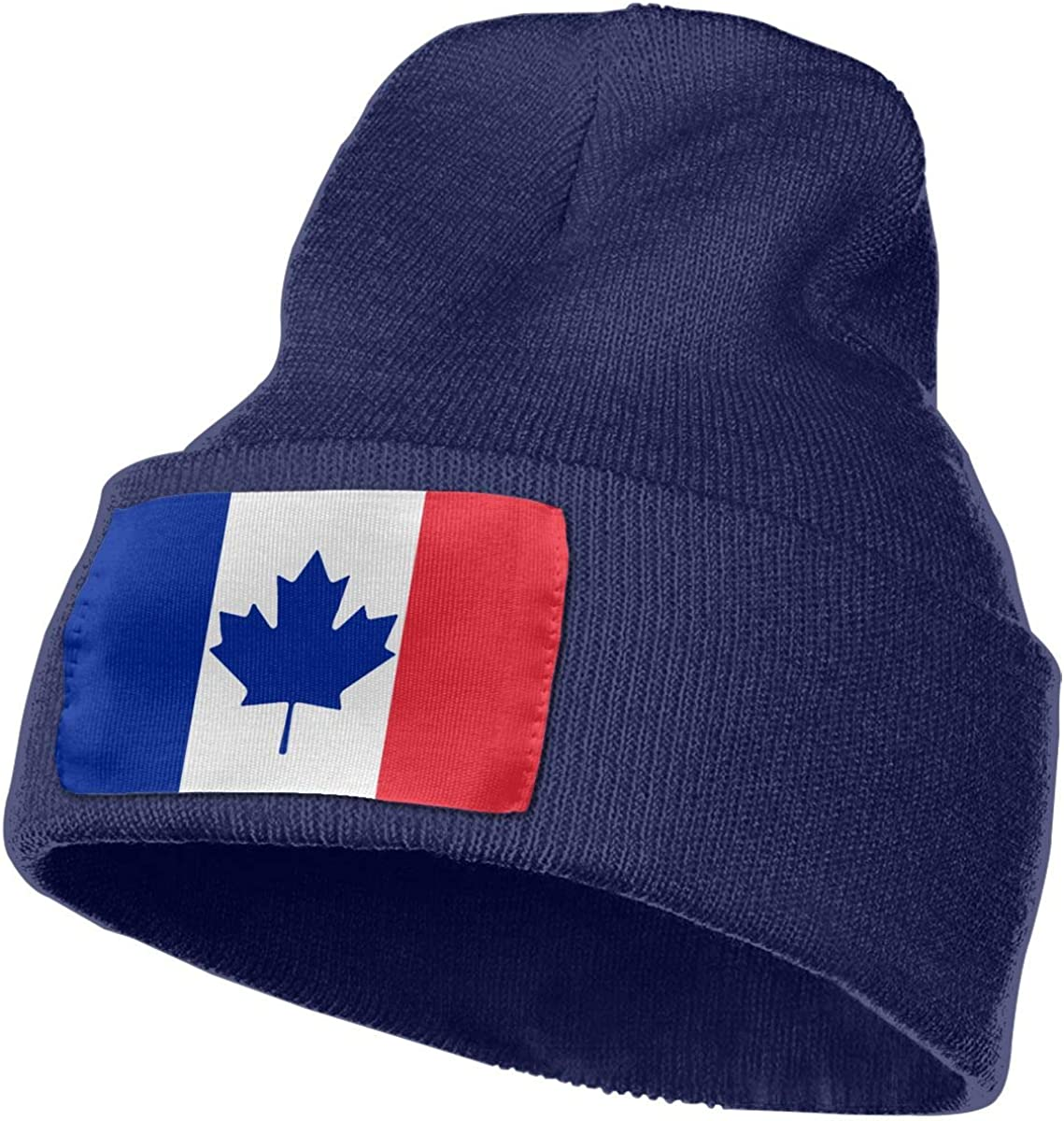 TAOMAP89 Canada France Flag Mashup Women and Men Skull Caps Winter Warm Stretchy Knit Beanie Hats
