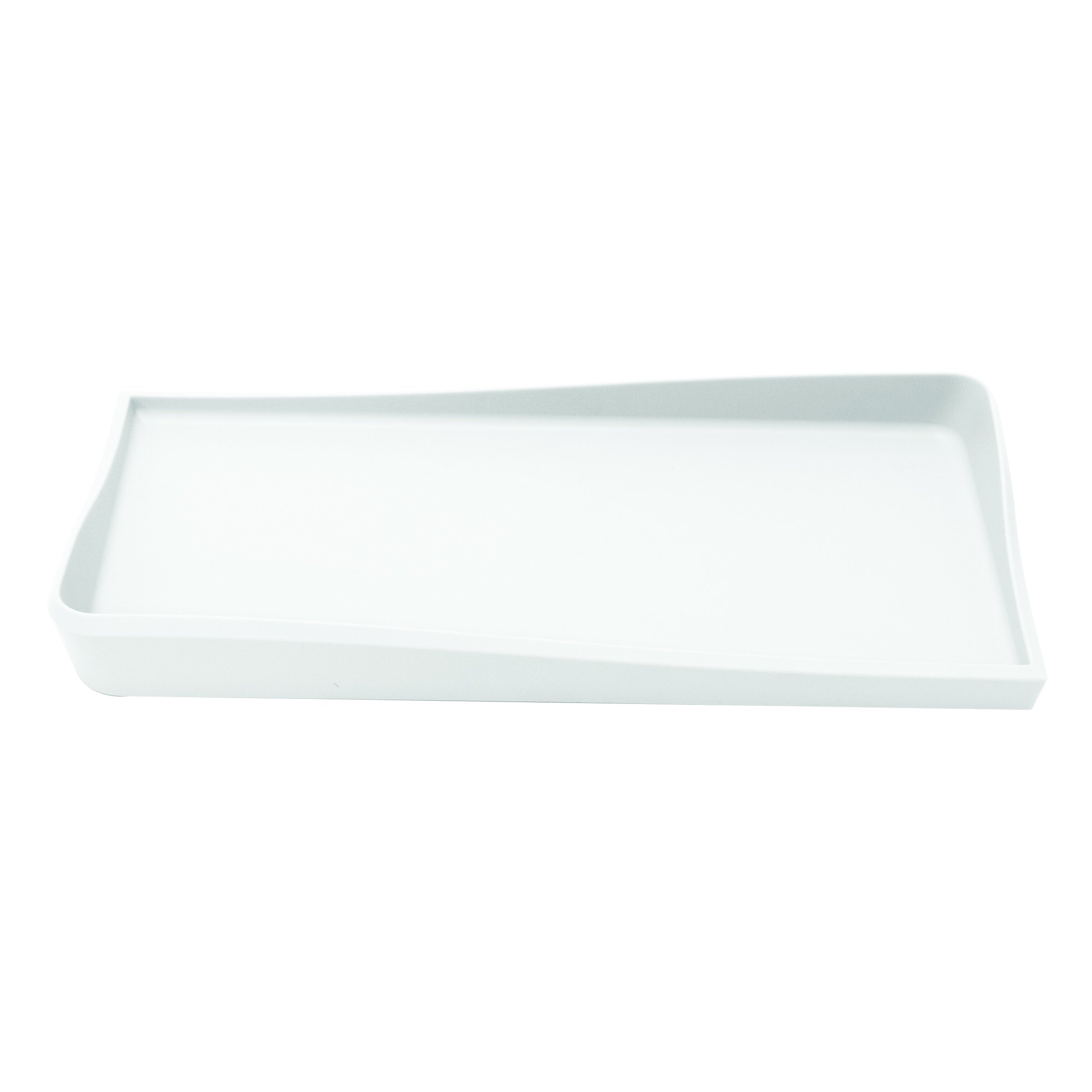 Silhouette Spaces Lifeboat Desk Tray, 12.1'' x 1.6'' x 5.8'', White (37536)