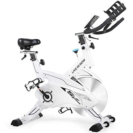 L Now Indoor Cycling Bike – Professional Home Cardio Gym Sports HIIT Training System with Pulse and LCD Display