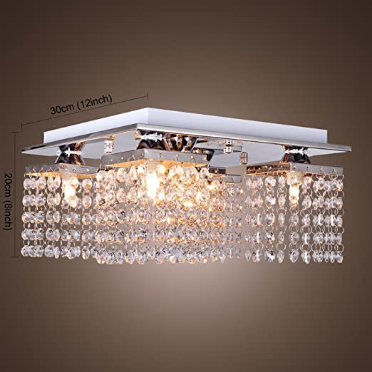 Lightinthebox crystal ceiling light with 5 lights electroplated lightinthebox crystal ceiling light with 5 lights electroplated finish modern flush mount ceiling lights fixture for hallway bedroom living room with aloadofball Gallery