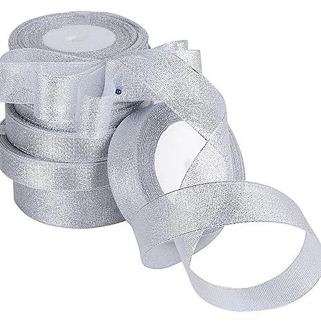 Bomboniere Matrimonio Natalizio : Aoner mt nastro colore argento natalizio decorativo per